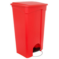 Continental 23RD 23 Gallon Red Step On Trash Can