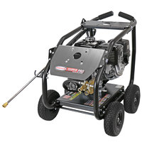Simpson 65206 Super Pro Pressure Washer with Roll Cage, Honda Engine, and 50' Hose - 4400 PSI; 4 GPM