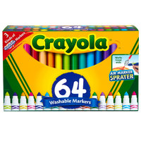 Crayola 588180 64-Count Variety Pack Broad Point Washable Markers