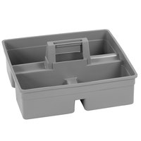 Carlisle JC1945CB23 Gray 3-Compartment Janitorial Tool Caddy for JC1945S23 and JC1945L23 Carts