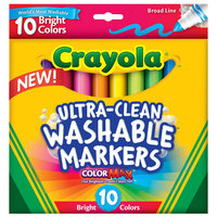 Crayola 587855 Color Max Ultra-Clean 10-Count Assorted Color Washable Markers