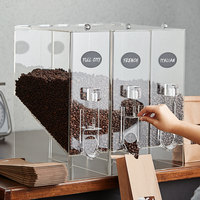 Choice 9 lb. Acrylic Dry Food / Coffee Bean Dispenser   - 3/Pack