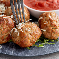 Fontanini 2 oz. All Natural Gluten Free Beef / Pork Meatball - 15 lb.