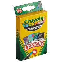 Crayola 525817 16-Count Assorted Color Construction Paper Crayon Box