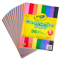 Crayola 993000 9 inch x 12 inch 8-Assorted Color Construction Paper - 96/Pack