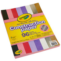 Crayola 990301 Sweetheart Collection 9 inch x 12 inch 8-Assorted Color Construction Paper - 96/Pack