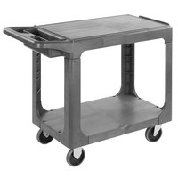 Carlisle UC194023 Gray 2-Shelf Utility Cart - 40 3/8 inch x 19 inch x 32 5/8 inch