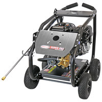 Simpson 65208 Super Pro Pressure Washer with Roll Cage, Simpson Engine, and 50' Hose - 4400 PSI; 4 GPM
