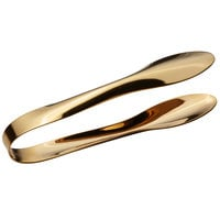Bon Chef 9461G 9 1/4 inch Gold Stainless Steel Serving Tongs with Hollow Cool Handle