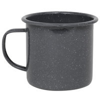 Crow Canyon Home K112GRY Stinson 16 oz. Grey Speckle Enamelware Mug
