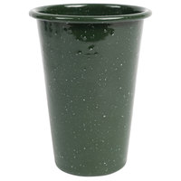 Crow Canyon Home K93GRN Stinson 14 oz. Forest Green Speckle Enamelware Tumbler