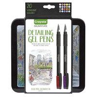 Crayola 586503 20-Count Assorted Color Detailing Gel Pen Set