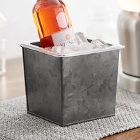 American Metalcraft 1/6 Size Onyx Galvanized Metal Beverage Tub with Polycarbonate Liner