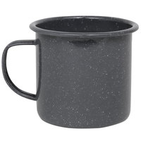 Crow Canyon Home K11GRY Stinson 12 oz. Grey Speckle Enamelware Mug