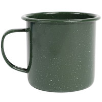Crow Canyon Home K11GRN Stinson 12 oz. Forest Green Speckle Enamelware Mug