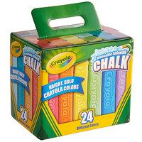 Crayola 512024 4 inch 24 Assorted Color Washable Ultimate Sidewalk Chalk