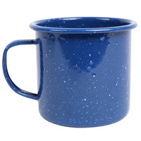 Crow Canyon Home K112MBU Stinson 16 oz. Medium Blue Speckle Enamelware Mug