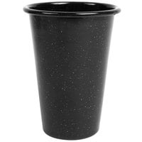 Crow Canyon Home K93BLA Stinson 14 oz. Black Speckle Enamelware Tumbler