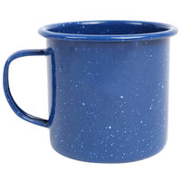 Crow Canyon Home K11MBU Stinson 12 oz. Medium Blue Speckle Enamelware Mug