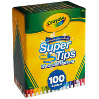 Crayola 585100 Super Tips 100-Count Assorted Color Washable Markers