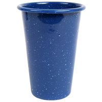 Crow Canyon Home K93MBU Stinson 14 oz. Medium Blue Speckle Enamelware Tumbler