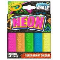 Crayola 35803 4 inch 5 Assorted Color Neon Washable Sidewalk Chalk