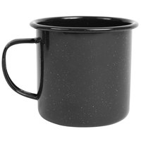 Crow Canyon Home K11BLA Stinson 12 oz. Black Speckle Enamelware Mug