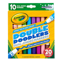 Crayola 588310 Double Doodlers 10-Count Assorted Color Dual-Ended Washable Markers