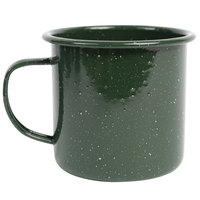 Crow Canyon Home K112GRN Stinson 16 oz. Forest Green Speckle Enamelware Mug