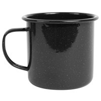 Crow Canyon Home K112BLA Stinson 16 oz. Black Speckle Enamelware Mug