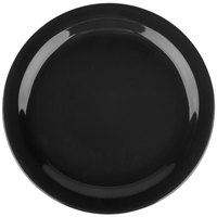 Carlisle 4385003 Black Dayton 10 1/4 inch Melamine Plate - 48/Case
