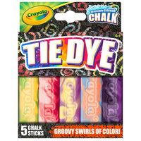 Crayola 35800 4 inch 5 Assorted Color Tie Dye Washable Sidewalk Chalk
