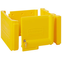 Rubbermaid FG618100YEL Yellow Locking Cabinet Door Kit for Janitorial Cleaning Carts