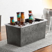 American Metalcraft 1/3 Size Onyx Galvanized Metal Beverage Tub with Polycarbonate Liner