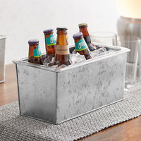 American Metalcraft 1/3 Size Silver Galvanized Metal Beverage Tub with Polycarbonate Liner