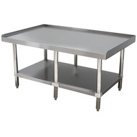 Advance Tabco ES-248 24 inch x 96 inch Stainless Steel Equipment Stand with Stainless Steel Undershelf