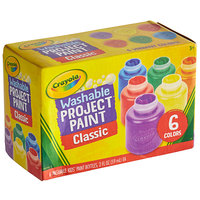 Crayola 541204 6 Assorted Color 2 oz. Washable Project Paint