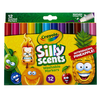 Crayola 588199 Silly Scents 12-Count Assorted Color Washable Markers