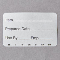 Cambro 1252SLB250 250 Count Roll of 2 inch x 1 1/4 inch Printed StoreSafe Dissolvable Product Labels