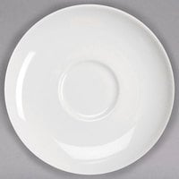 Homer Laughlin by Steelite International HL20156800 Ameriwhite Alexa 6 1/2 inch Bright White China Saucer - 36/Case