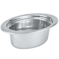 Vollrath 8230110 Miramar® 3.5 Qt. Decorative Stainless Steel Oval Food Pan - 4 inch Deep