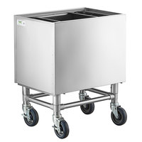 Regency 24 inch x 18 inch Stainless Steel Portable Ice Bin