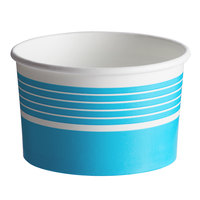 Choice 16 oz. Blue Paper Frozen Yogurt / Food Cup - 50/Pack