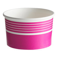 Choice 16 oz. Pink Paper Frozen Yogurt / Food Cup - 50/Pack