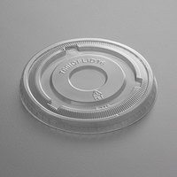 Choice 16 oz. Clear Flat Frozen Yogurt Lid with No Hole - 50/Pack