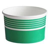 Choice 16 oz. Green Paper Frozen Yogurt / Food Cup - 50/Pack