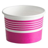 Choice 4 oz. Pink Paper Frozen Yogurt / Food Cup - 50/Pack