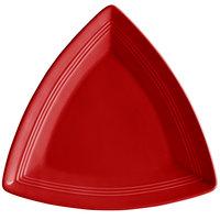 Tuxton CQZ-1248 Concentrix 12 1/2 inch Cayenne Triangle China Plate - 6/Case