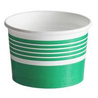 Choice 4 oz. Green Paper Frozen Yogurt / Food Cup - 50/Pack