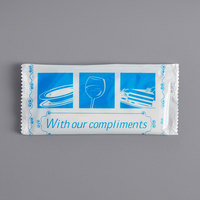 8 inch x 7 inch With Our Compliments Premium Clean Scented Moist Towelette / Wet Nap - 250/Case
